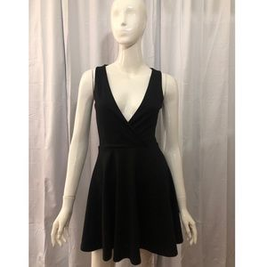 Lucca Couture Black V-Neck Dress